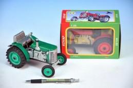 Traktor Zetor kov 14cm 1:25 v krabičce Kovap - Rock David