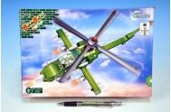 Stavebnice BanBao Vrtulník bitevní 231ks + 1 figurka v krabici 28x19x5,5cm