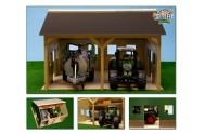 Garáž farma pro traktory dřevo 55x53x38cm 1:16 v krabici