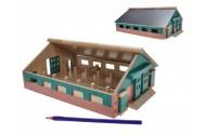 Farma dřevěná 21,2x11,2x30cm 1:87 v krabici