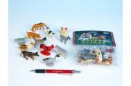 Zvířátka farma plast 4-5cm, 12 druhů, 12ks v sáčku