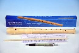 Flétna dřevo 31cm v krabičce - Rock David