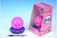 Zářící Chobotnička pro klidné spaní růžová na baterie 3xAAA v krabičce od 0 měsíců