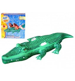 Lehátko krokodýl nafukovací s úchytem 168x79cm v krabičce