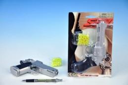 Pistole na kuličky plast 18cm s kuličkami na kartě - Rock David
