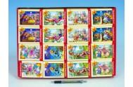A-02405-B Minipuzzle Pohádky 24 dílků 16,5x11cm asst 8 druhů v krabičce 32ks v boxu