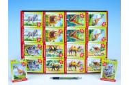 A-02405-Z Minipuzzle Zvířátka safari 24 dílků 16,5x11cm asst 8 druhů v krabičce 32ks v boxu