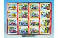 A-2405-BP Minipuzzle Dopravní prostředky 16,5x11cm asst 8 druhů 24 dílků v krabičce 32ks v boxu
