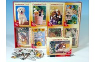 A-08514-Z Minipuzzle Zvířátka domácí mláďata 23x16,5cm asst 8 druhů 80 dílků v krabičce 16ks v boxu