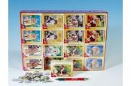 A-08521-Z Minipuzzle zvířátka 54 dílků asst 8 druhů v krabičce 32ks v boxu