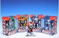 Robot 19cm plast chodící na baterie se zvukem asst 5 druhů v krabičce