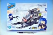 Stavebnice BanBao Skútr sněžný na zpěný chod 168ks + 2 figurky v krabici 28x19x5,5cm