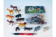 Zvířátka safari/ZOO malá, 12 druhů, 12ks v sáčku