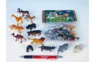 Zvířátka safari/ZOO malá asst 12 druhů 12ks v sáčku