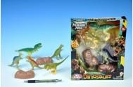 Sada dinosaurus 5ks + doplňky v krabici