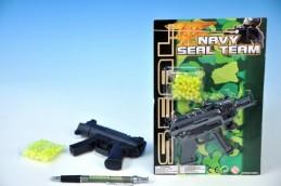 Pistole na kuličky 12cm + kuličky na kartě - Rock David