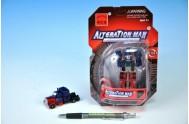 Transformer Robot plast 8cm na kartě