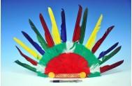 Čelenka indiánská 60x35cm v sáčku karneval