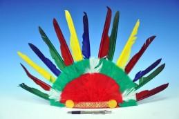 Čelenka indiánská 60x35cm v sáčku karneval - Rock David