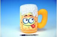 Polštář pivní sklenice Pivo plyš 22cm