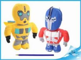 Robot Transformers 20cm látkový 2druhy 0m+ - Chabon Michael
