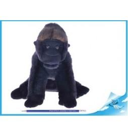 Gorila plyšová NURU 25cm sedící
