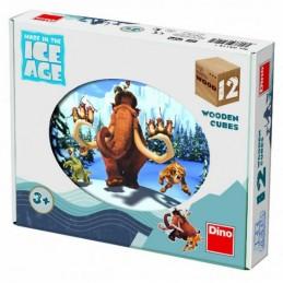 Doba ledová 4 - Dřevěné kostky 12 ks - neuveden