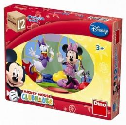 Mickeyho klubík - Dřevěné kostky 12 ks - Disney Walt