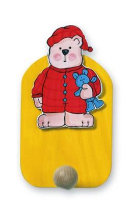 Věšák medvěd v pyžamu - 1 háček - Hawkins David R.