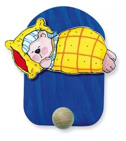 Věšák spící medvěd - 1 háček - Hawkins David R.
