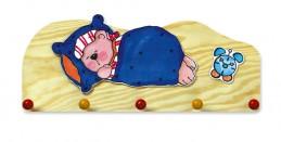 Věšák spící medvěd - 5 háčků - natur - Hawkins David R.