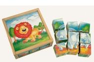 Obráz. kostky-Divoká zvíř, 9 ks