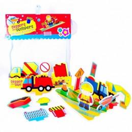 Pěnová sada hraček do vany Stavební stroje - Hawkins David R.