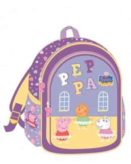 Školní taška s potiskem Prasátko Peppa - fialová - Hawkins David R.