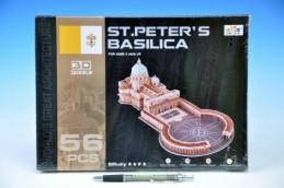 Skládanka 3D Puzzle Chrám svatého Petra (Řím) 56 dílků v krabici - Rock David