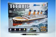 Skládanka Puzzle 3D Titanic 113 dílků v krabici