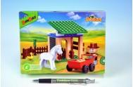 Stavebnice BanBao Farma Stáj s koníkem 59ks + 1 figurka v krabičce