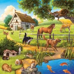 Domácí zvířata 3x49 dílků