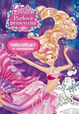 Barbie - Perlová princezna - Omalovánky se samolepkami