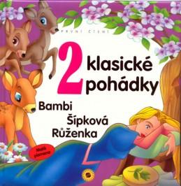 2 klasické pohádky - První čtení - Malá písmena (Bambi, Šípková Růženka)