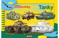 Tanky - didaktické omalovánky