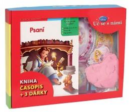 Kufřík Uč se s námi - Psaní (kniha, časopis + 3 dárky pro princezny)