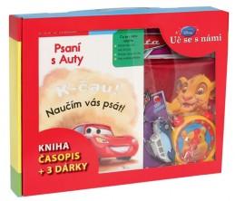Kufřík Uč se s námi - Psaní s Auty (kniha, časopis + 3 dárky)
