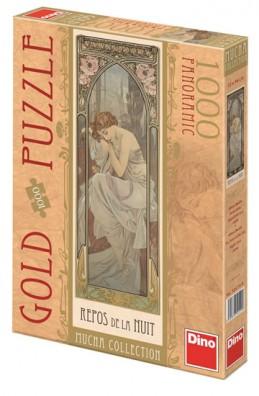 Alfons Mucha - Odpočinek noci - puzzle 1