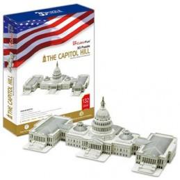Puzzle 3D Capitol Hill - 132 dílků