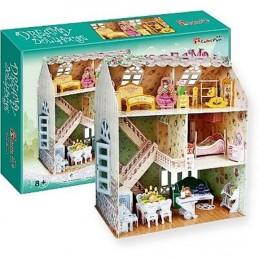 """Puzzle 3D Domek """"SNŮ"""" pro panenky - 160 dílků"""