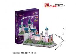 Puzzle 3D Zámek Neuschwanstein / led - 128 dílků