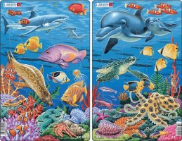 Puzzle MIDI - Podmořský život/25 dílků (2 druhy)