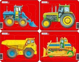 Puzzle MINI - Pracovní stroje/10 dílků (4 druhy)