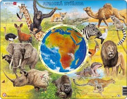Puzzle MAXI - Zvířata Afriky/90 dílků